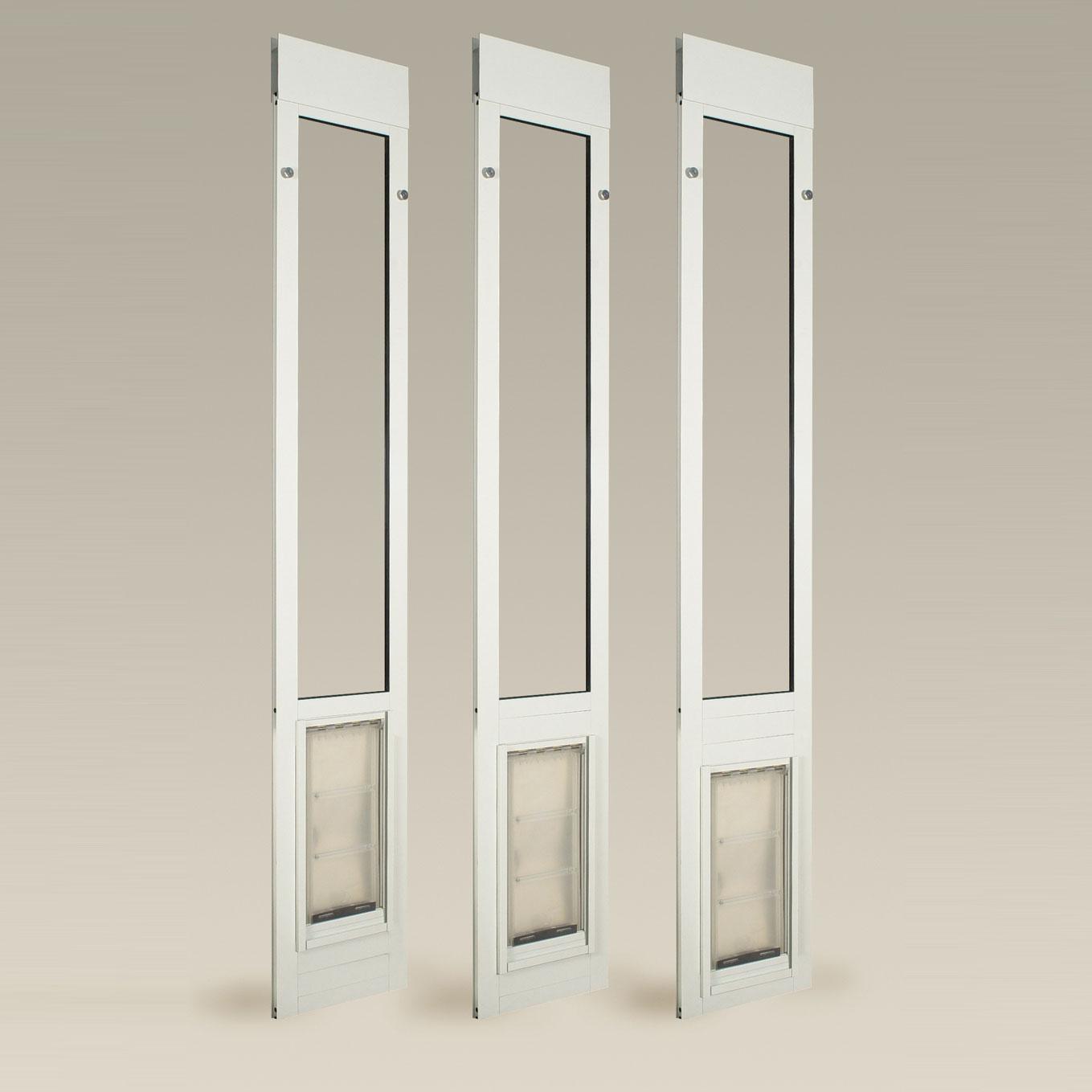 Patio door glass inserts endura flap thermo panel iiie for Door window inserts
